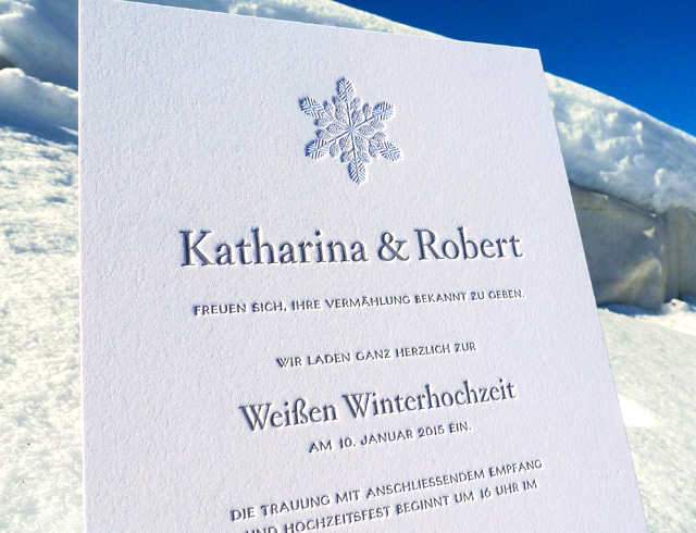 impressiona Letterpress Hochzeitskarten white wedding mood