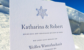 impressiona Letterpress Design white wedding